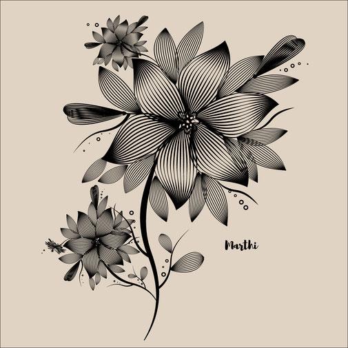 Ilustración floral Marthi