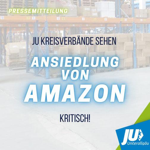 Junge Union, Kritik Amazon Gewerbegebiet Fughafen Memmingen, Allgäu Airport, Unterallgäu, Allgäu