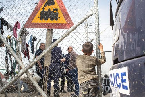 Campo profughi di Idomeni (Grecia)