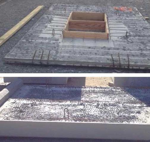prédalle foraine simple ou précoffrée en béton / construction Pajot Entreprise