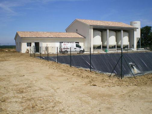 station de pompage, de traitement et de reprise des eaux de forage