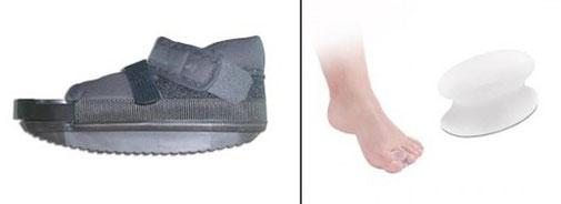 CHIRURGIE TOULOUSE DR RÉMI chaussure postopératoire orthopédique, écarteur séparateur d'orteil