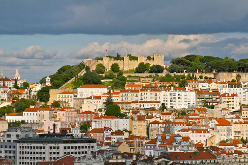 Castelo São Jorge - Château Saint-Georges à Lisbonne