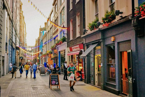 Kingly Street, Restaurants, London, Die Traumreiser