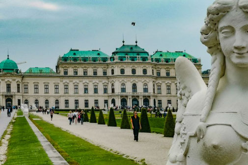 Wien, Vienna, Österreich, Die Traumreiser, Schloss Belvedere, Garten