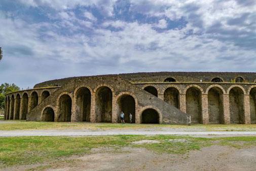 Pompeji, Neapel, Ausgrabungen, historisch, Stadion, Arena