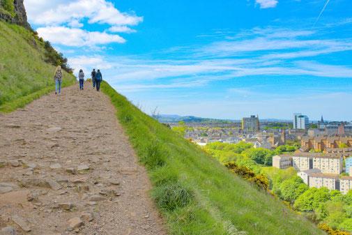 Arthur's Seat, Edinburgh, Aufstieg, Schottland, Die Traumreiser