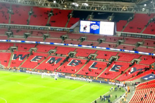 London, Wembley Stadion, Tottenham Everton, Die Traumreiser