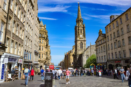 Royal Mile, Edinburgh, Schottland, Die Traumreiser