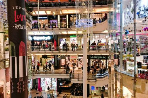 Shopping, Palladium, Einkaufszentrum, Prag, Die Traumreiser
