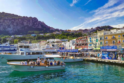 Neapel, Capri, Insel, Die Traumreiser, Hafen, Marina Grande