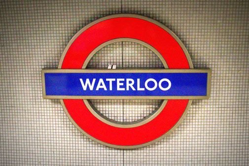 London, Waterloo Station, Schild, U Bahn, Tube, Die Traumreiser