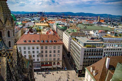 Wien, Vienna, Österreich, Die Traumreiser, Stephansplatz, Stephansdom, Aussicht