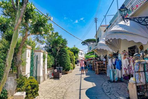 Neapel, Capri, Insel, Die Traumreiser, Anacapri, Gassen, Fußgängerzone
