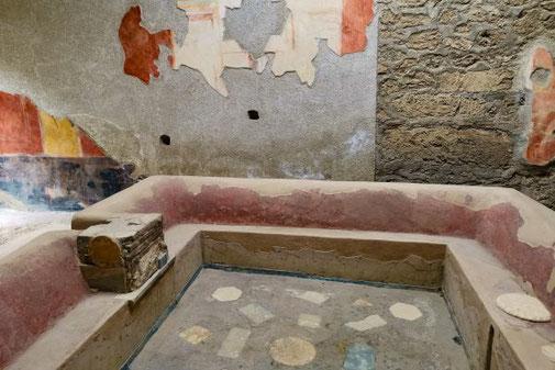 Pompeji, Neapel, Ausgrabungen, historisch, Haus, Malereien