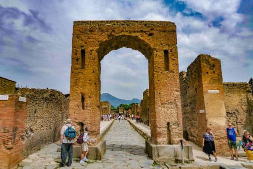 Pompeji, Neapel, Ausgrabungen, historisch, Stadt