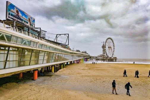 Pier, Scheveningen, Den Haag, Nordsee, Holland, Niederlande, Die Traumreiser