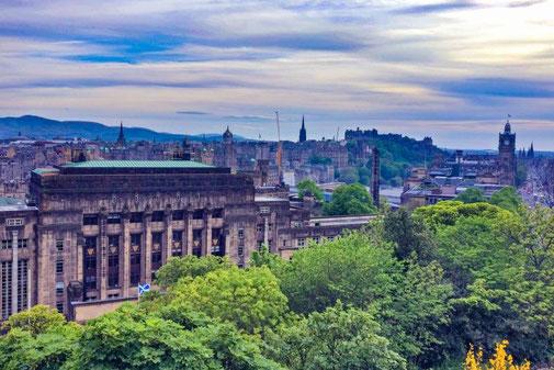 Calton Hill, Aussichtspunkt, Edinburgh, Schottland, Die Traumreiser