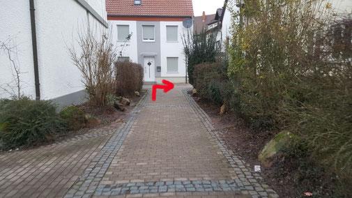 ...den Zwischenweg zur Lauerstraße...