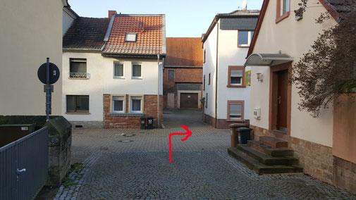 rechts ab in die Lutherstraße...