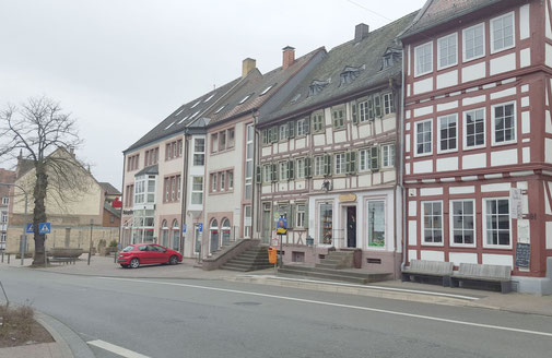 2015, Passage in der Hauptstraße mit neuem Marktbrunnen (Baujahr 1949)