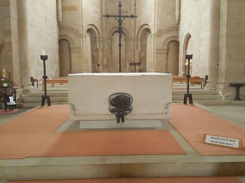Altar Abteikirche, Ansicht aus Westen
