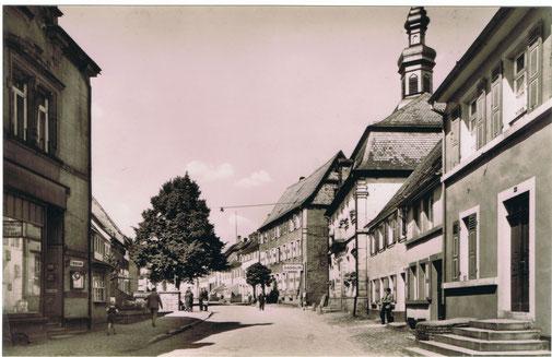 1956, Blickrichtung Nord, links der ehemalige Kiosk, Bild: Stadtarchiv
