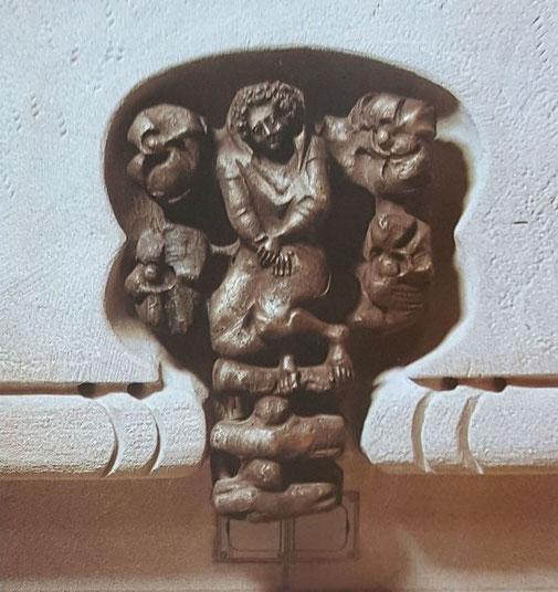 Relief im Norden, Isaak als Zeichen des Brandopfers Abrahams