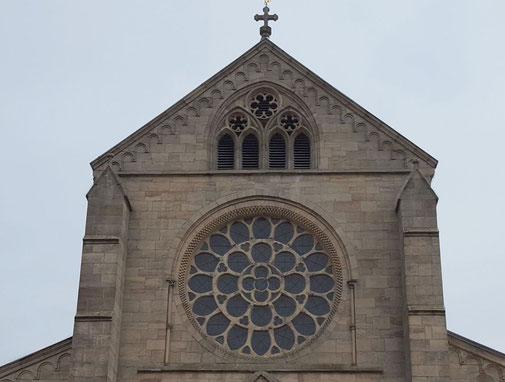 Rosenfenster in der Westfassade der Abteikirche, Bild: H.Forsch