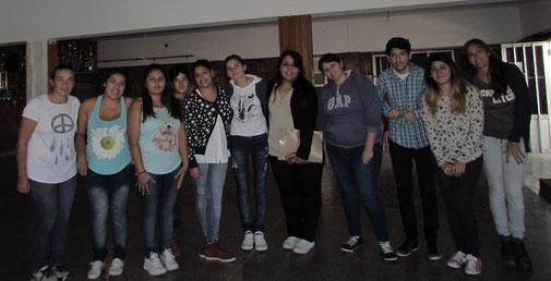 Einige StudentInnen beim jährlichen Treffen