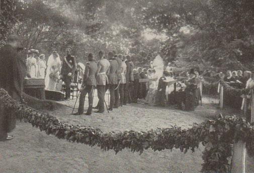 Trauung im Jahr 1910, Fotograf unbekannt
