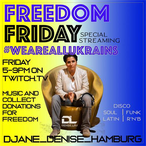 FRIDAY - DISCO - jeden Freitag von 17-21 Uhr begleite ich Euch mit feinster PartyMusik ins Wochenende - kommt und sei mit Dabei
