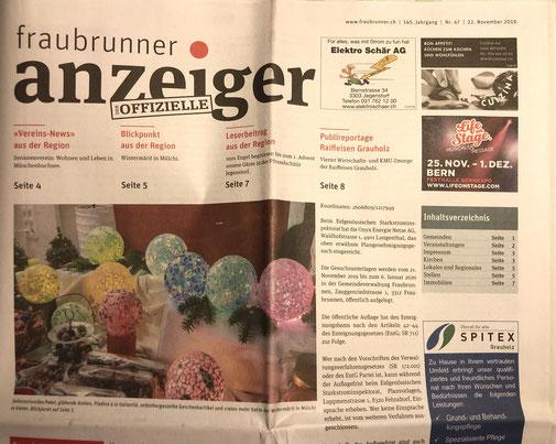 Winter-Märit Mülchi - Beitrag 2019 im Fraubrunner Anzeiger