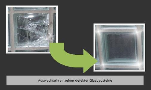 Auswechseln einzelner defekter Glasbausteine Ihrer Glasbausteinwand