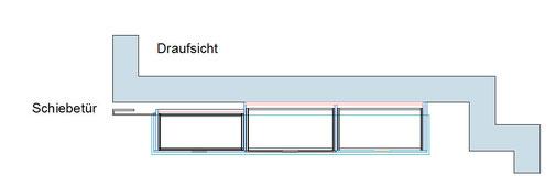 Detailzeichnung vom Sideboard