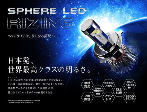SPHERE HID、LED販売取り付け