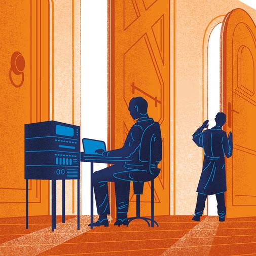 Illustrationsausschnitt zeigt mystische Wesen aus Wolken