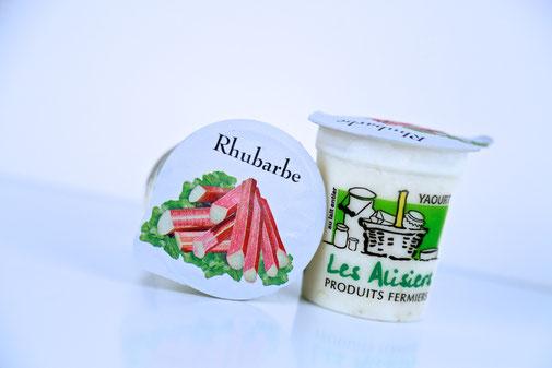 Yaourt rhubarbe de la ferme des Alisiers
