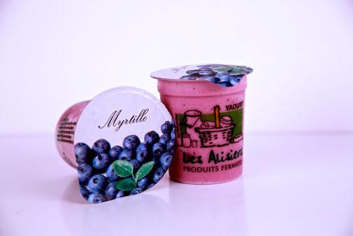 Yaourt myrtille de la ferme des Alisiers