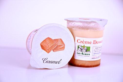 dessert caramel de la ferme des Alisiers