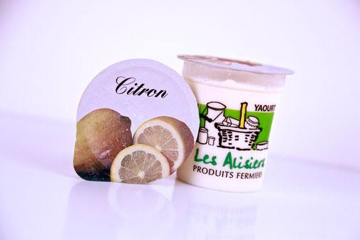 Yaourt citron de la ferme des Alisiers