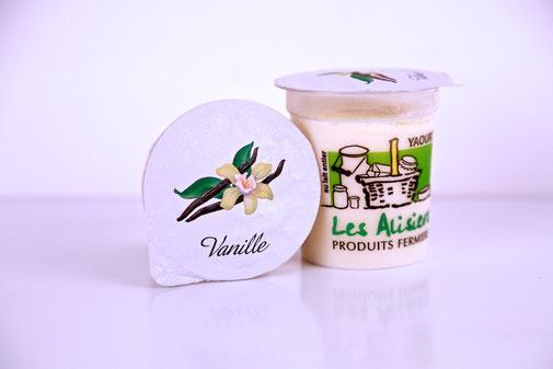 Yaourt vanille de la ferme des Alisiers