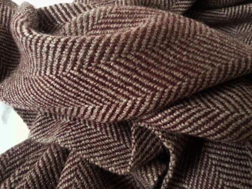 Yak - Schal, unisex, sehr flauschige Qualität, rot-grau, wunderbar warmverlauf, dunkelrot - rosé, herrlich warm & federleicht in bester Kaschmir -Qualität