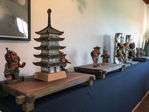 ギャラリー一階の壁面展示