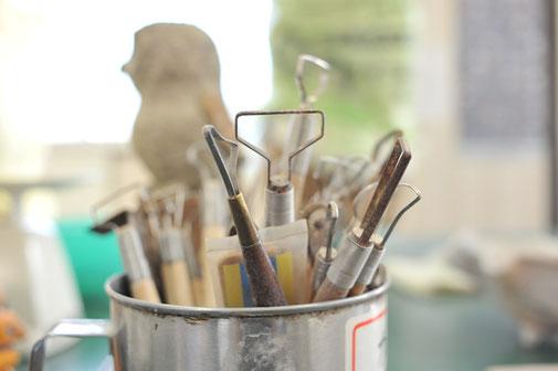 陶芸の工具、道具は自分の分身