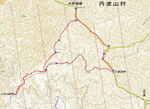 大菩薩嶺 距離:8km 累積標高差:550m(登り)