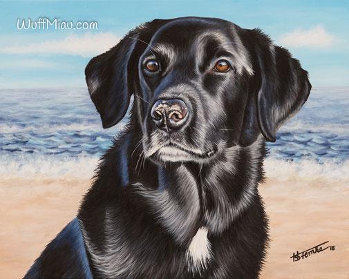"""Hundegemälde Labrador """"Oskar"""""""