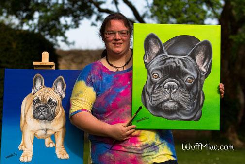 Künstlerin Hanna Stemke verewigt Deinen Liebling, Hund, Katze oder andere Tiere auf Leinwand