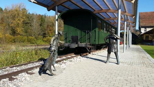 Bahnhof Durlesbach, kennst du die Geschichte mit dem Ziegenbock?