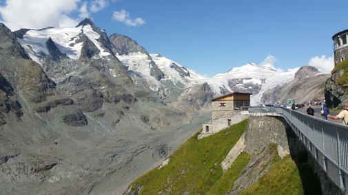 Blick auf Österreichs höchsten Gletscher...